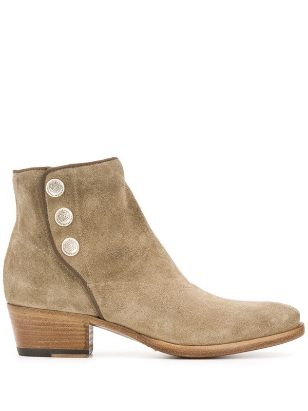 Alberto Fasciani pointed ankle boots in neutrals