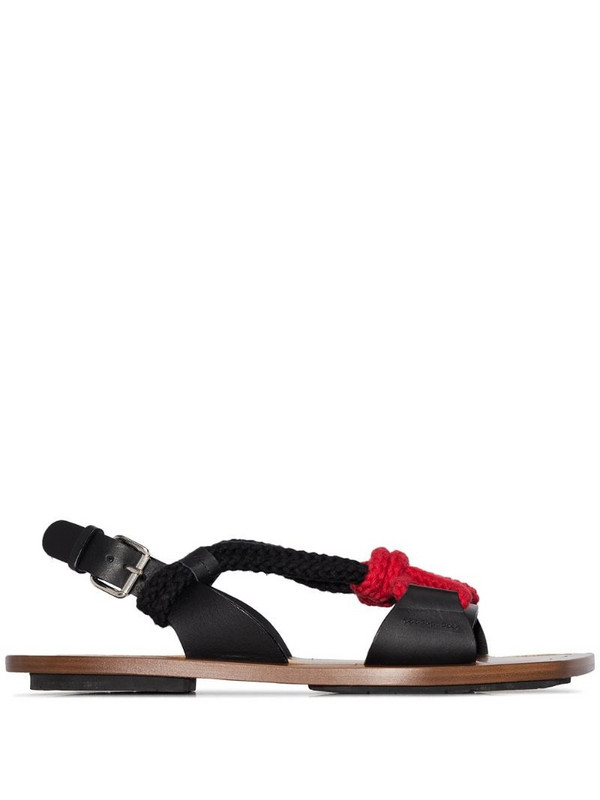 Plan C rope strap sandals in brown