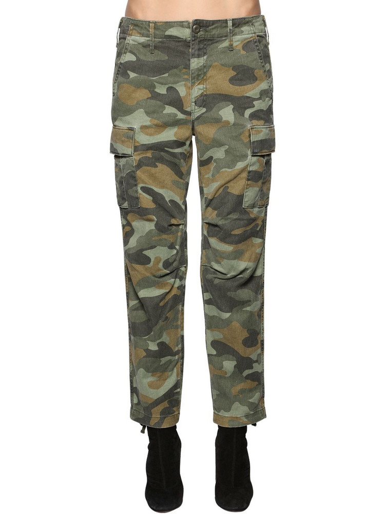 MOTHER The Sir Yes Sir Cotton & Linen Pants in green