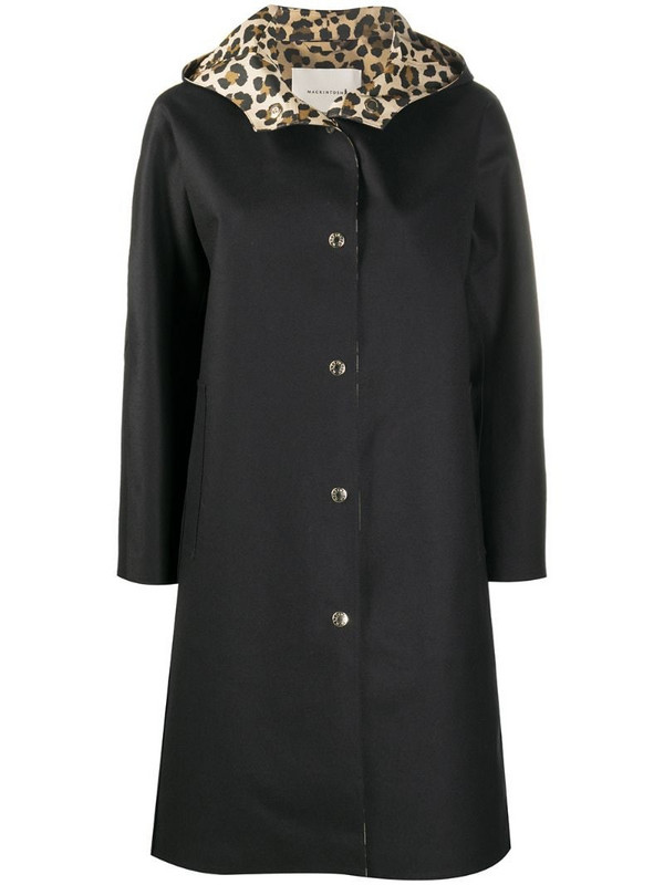Mackintosh Airdrie hooded coat in black