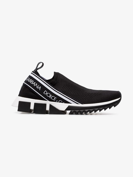 Dolce & Gabbana black Atletica stretch slip-on sneakers
