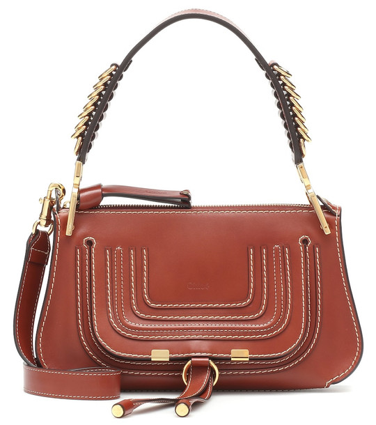 Chloé Marcie Baguette Small leather shoulder bag in brown
