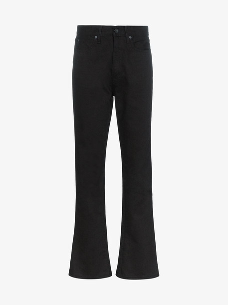 SLVRLAKE Slim kick flared jeans in black