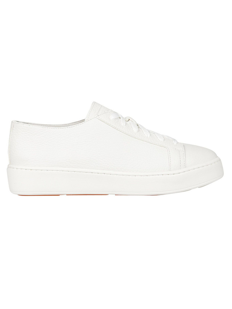 Santoni Lace Up Classic Sneakers in white