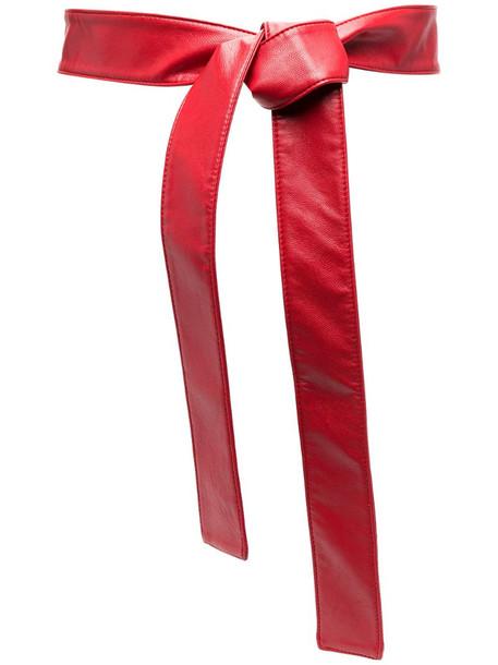 Philosophy Di Lorenzo Serafini tie-fastening belt in red