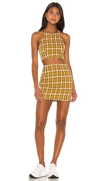 superdown Deon Skirt Set in Yellow