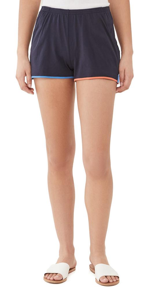 KULE The Shorts in navy / multi