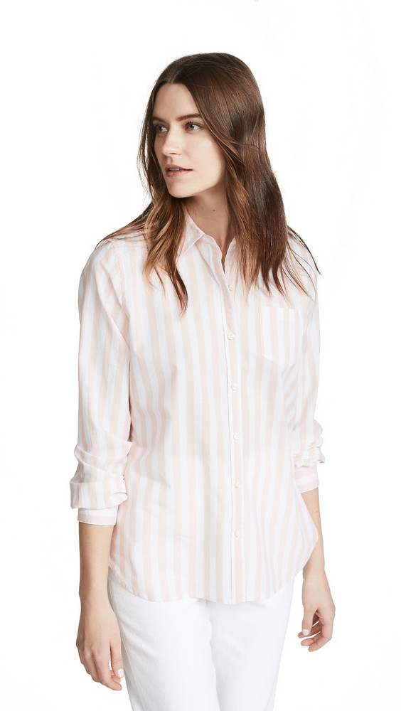 Birds of Paradis Grace Classic Button Down Shirt in pink