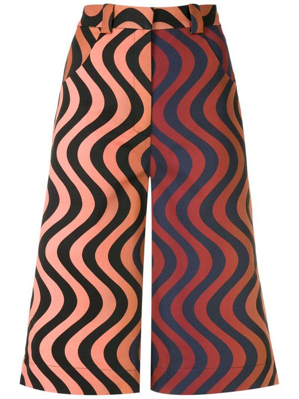Andrea Marques wave print bermuda shorts
