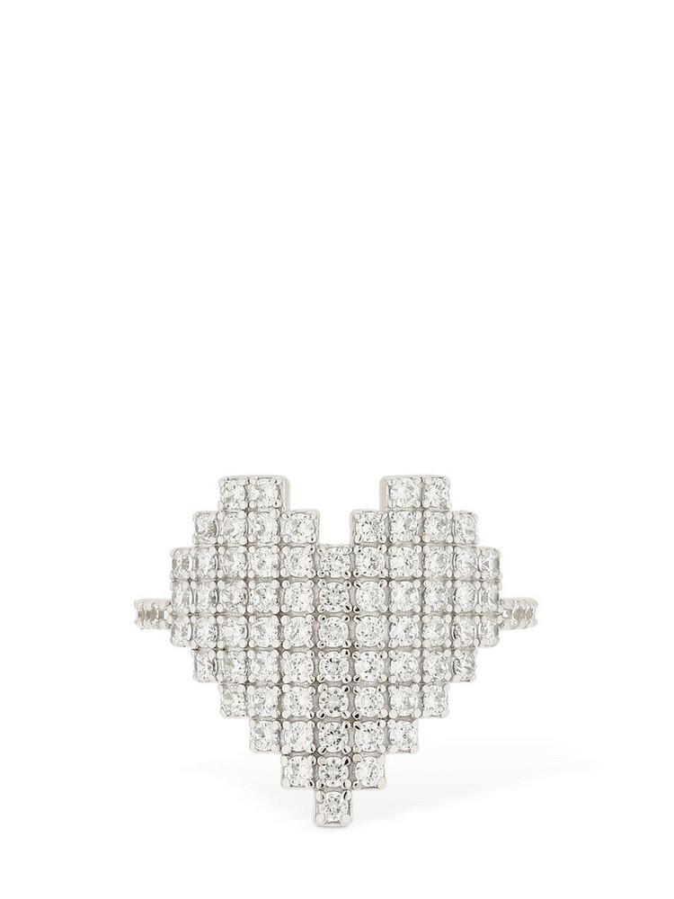 APM MONACO Silver Pixel Heart Ring