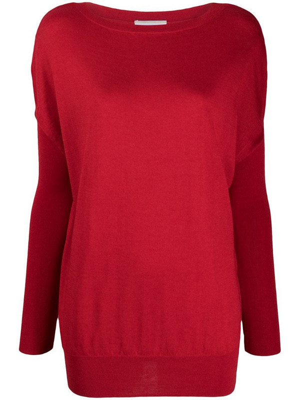 Snobby Sheep Grace dolman-sleeve sweater in red
