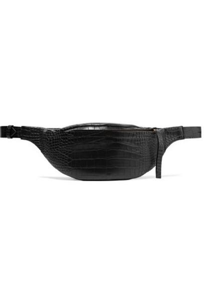 Nanushka - Lubo Croc-effect Vegan Leather Belt Bag - Black