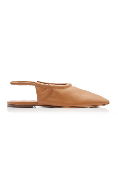 Vince Cadya Leather Flats Size: 5.5 in brown