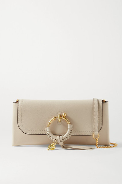 See By Chloé See By Chloé - Joan Textured-leather Shoulder Bag - Beige