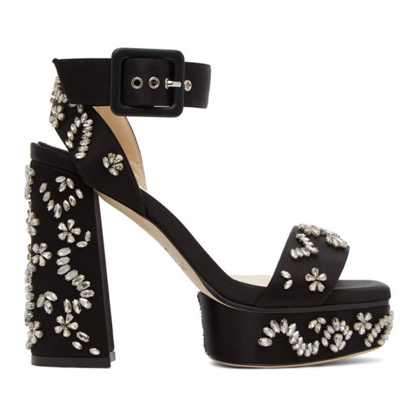 Jimmy Choo Black Jax Platform Sandals