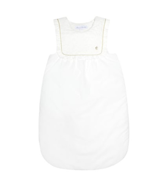 Tartine et Chocolat Padded cotton bunting bag in white