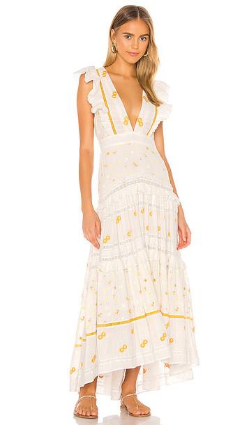 LoveShackFancy Cortland Dress in White
