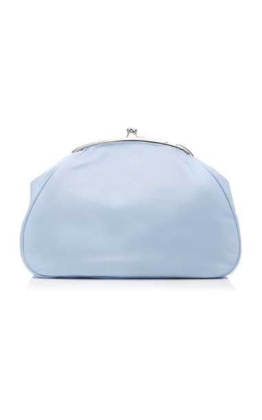 Marina Moscone Exploded Leather Coin Purse in blue