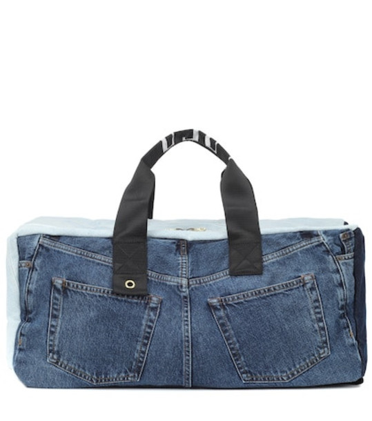 Acne Studios Blå Konst denim backpack in blue