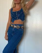 jeans,top