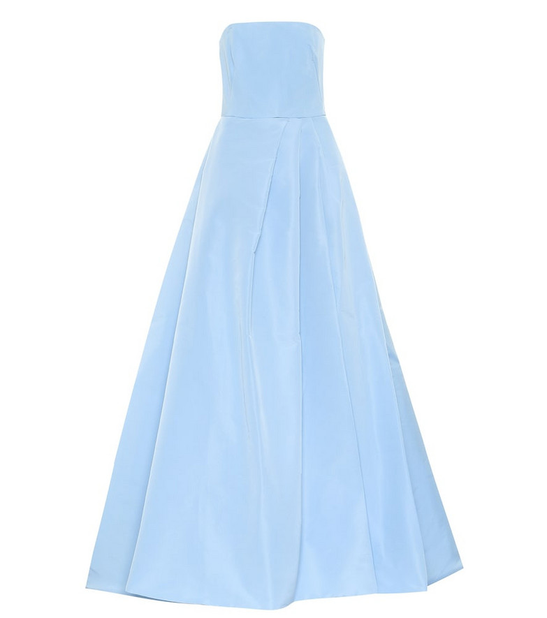 Monique Lhuillier Silk gown in blue
