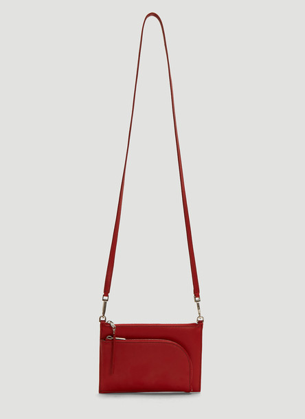 Rick Owens Club Pouch in Red size One Size