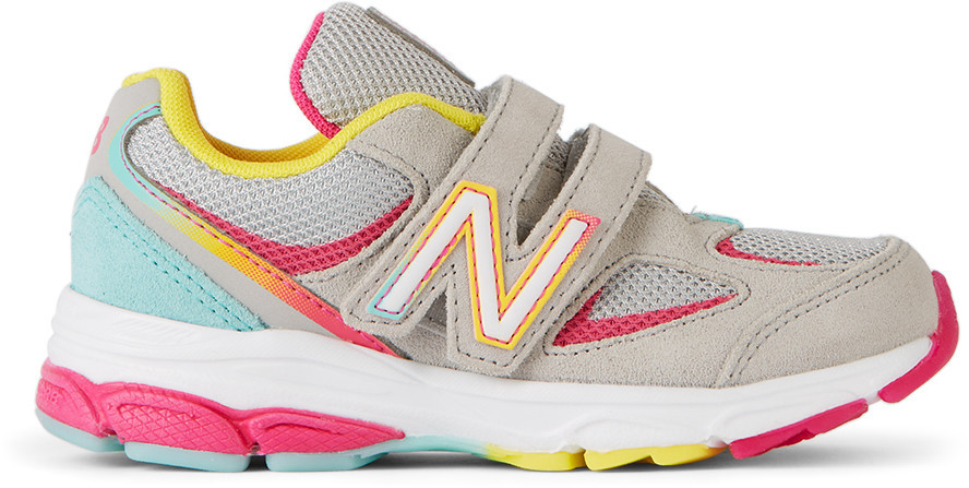 New Balance Kids Multicolor 888v2 Sneakers in grey