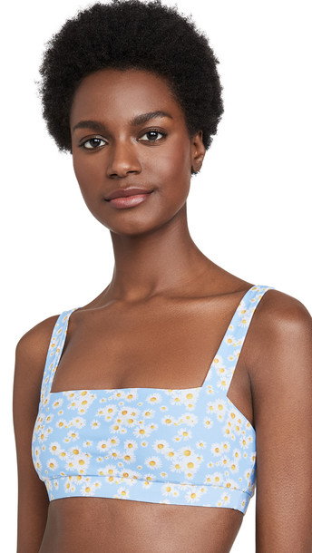 Onia Zoe Bikini Top in blue