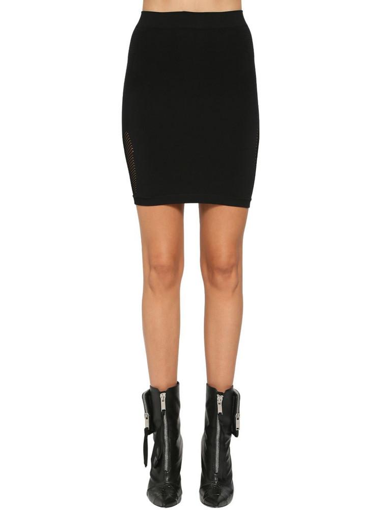 UNRAVEL Active Mesh Mini Skirt in black