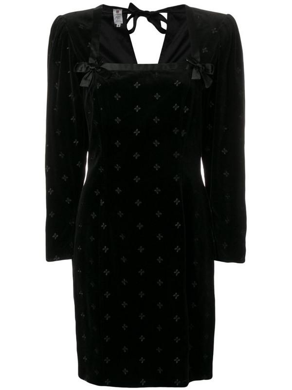 Emanuel Ungaro Pre-Owned 1980's structured dress in black