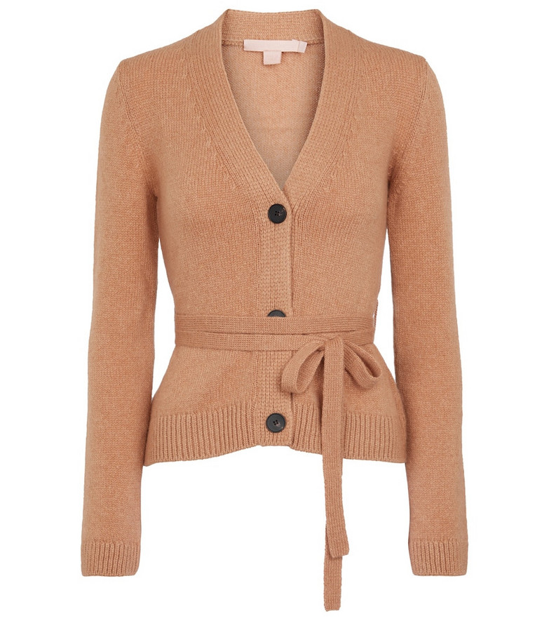 Brock Collection Samira cashmere wrap cardigan in brown