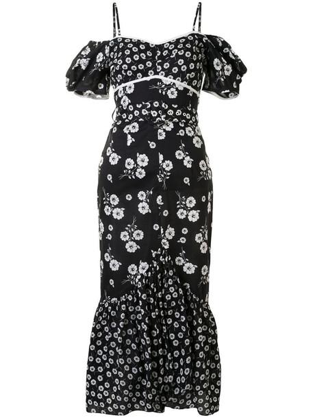 Alice McCall Izabella Midi Dress in black