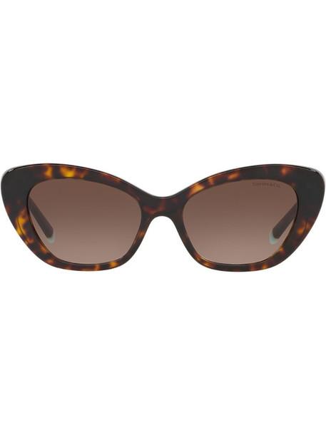 Tiffany & Co Eyewear cat eye sunglasses in brown