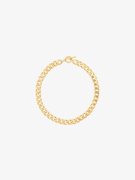 All Blues gold tone moto chain link necklace