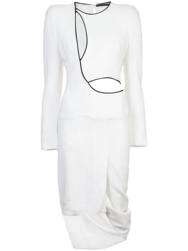 Haider Ackermann cutout asymmetric dress in white