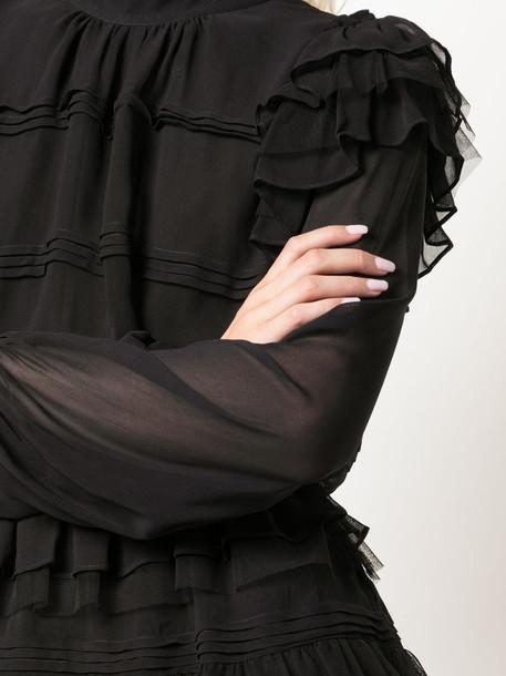 Cynthia Rowley Eloise ruffle dress in black
