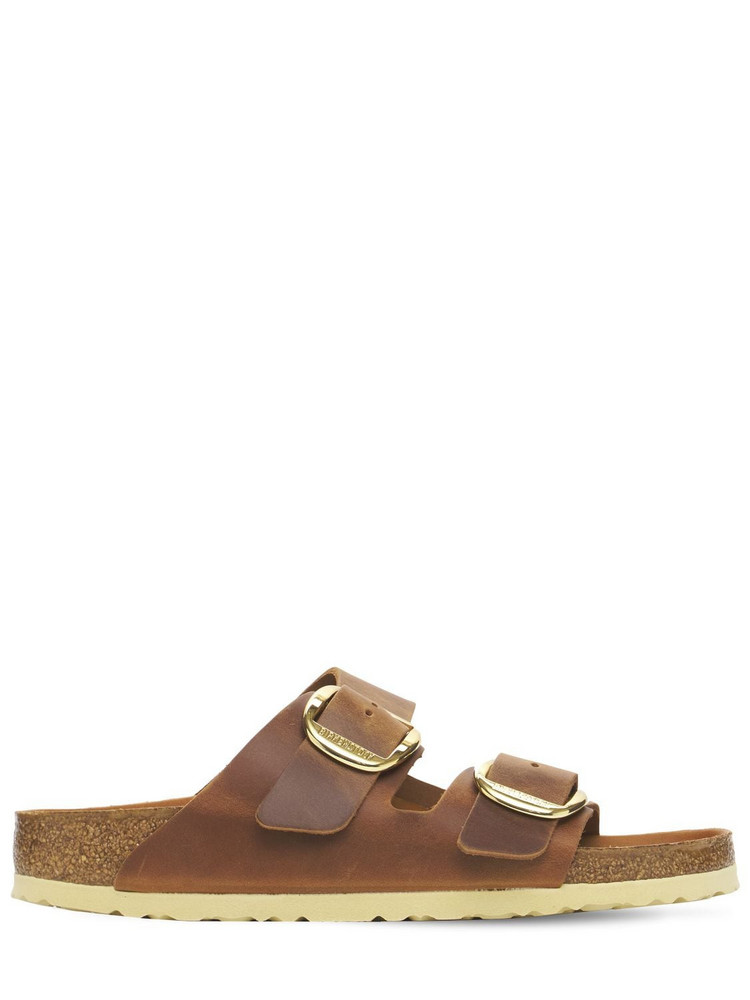 BIRKENSTOCK Classic Papillo Leather Sandals in brown