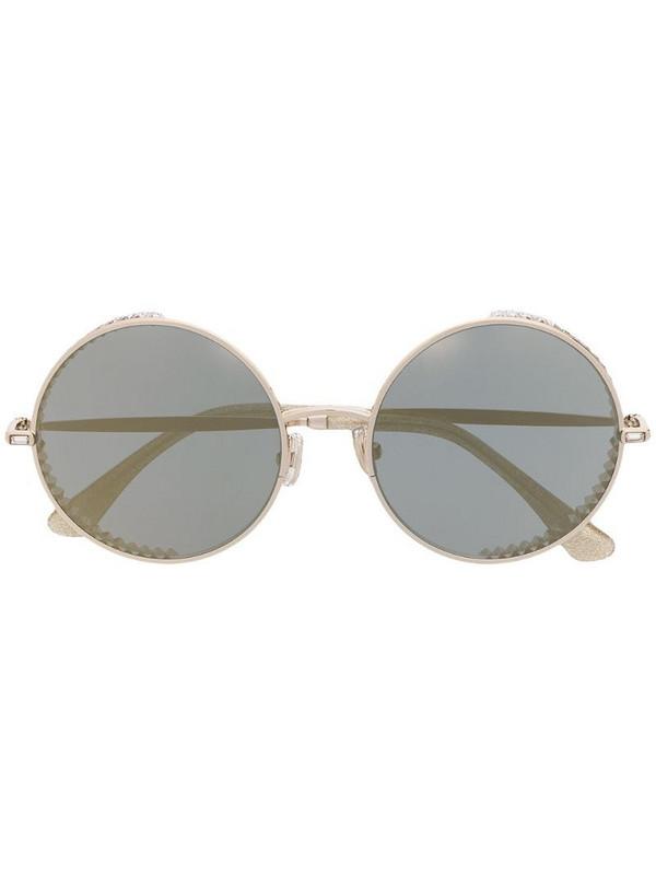 Jimmy Choo Eyewear Goldys round-frame sunglasses in gold