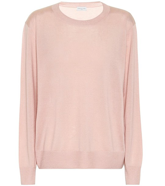 Dries Van Noten Cashmere and silk sweater in pink