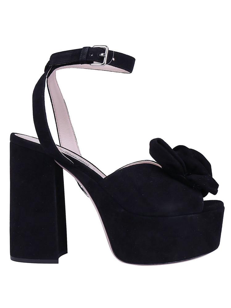 Miu Miu Miumiu Sandals in nero