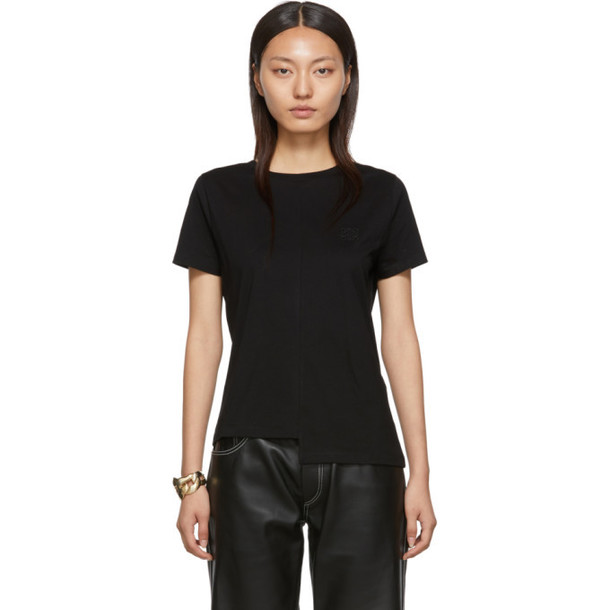 Loewe Black Asymmetric Monogram T-Shirt