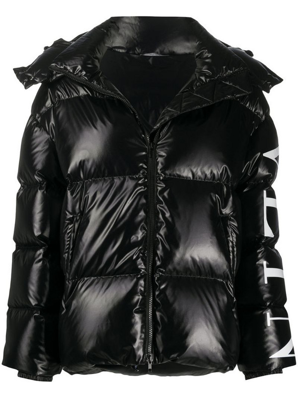 Valentino VLTN logo-print padded jacket in black