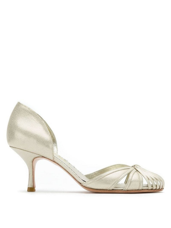 Sarah Chofakian leather pumps in neutrals