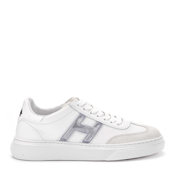 Hogan H365 White Leather Sneakers With H Logo