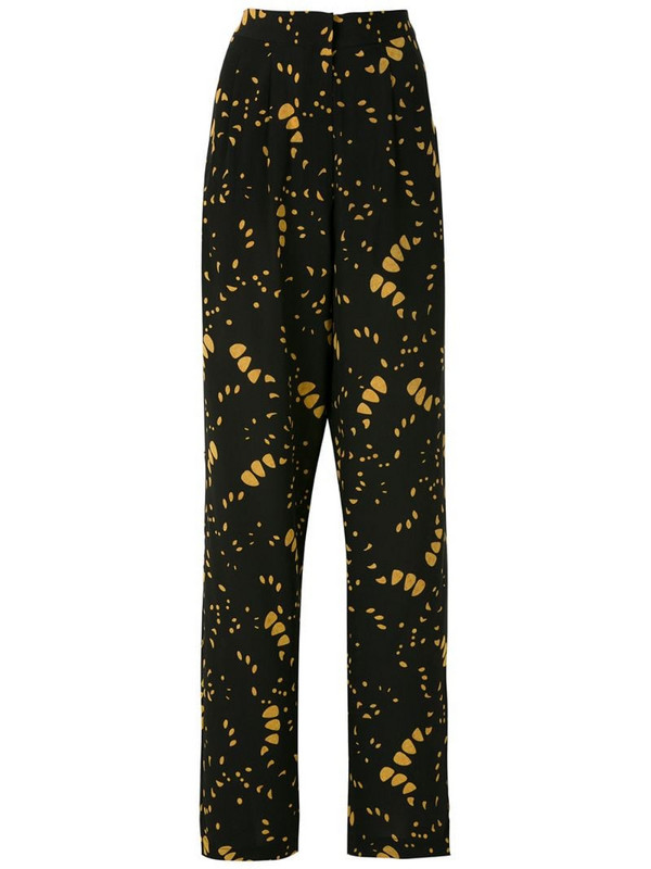 Andrea Marques pleated silk trousers in black