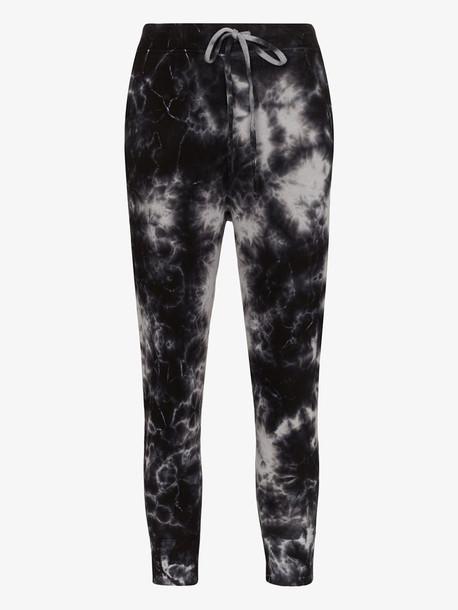 Nili Lotan tie-dye track pants in black