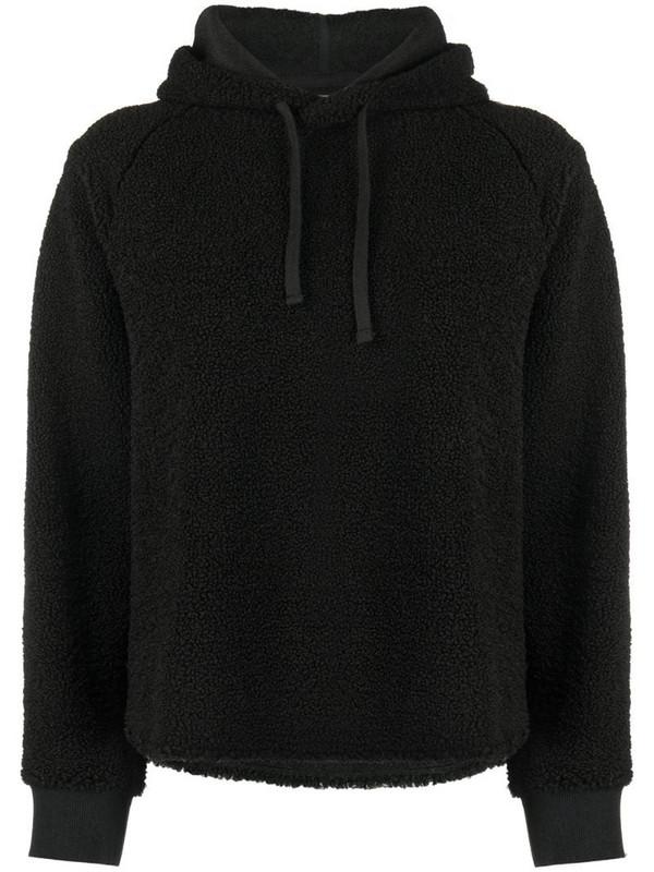 YMC raglan-sleeves hoodie in black