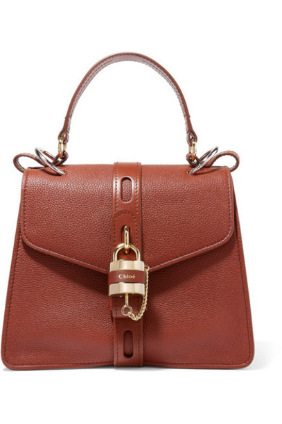 Chloé Chloé - Aby Textured-leather Tote - Brown