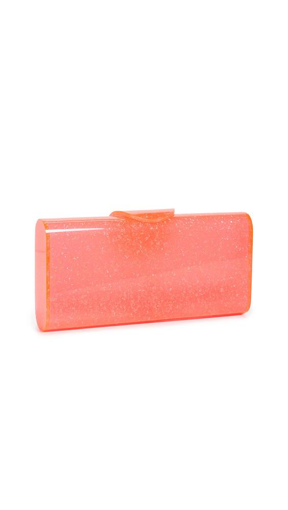 Edie Parker Lara Solid Clutch in pink