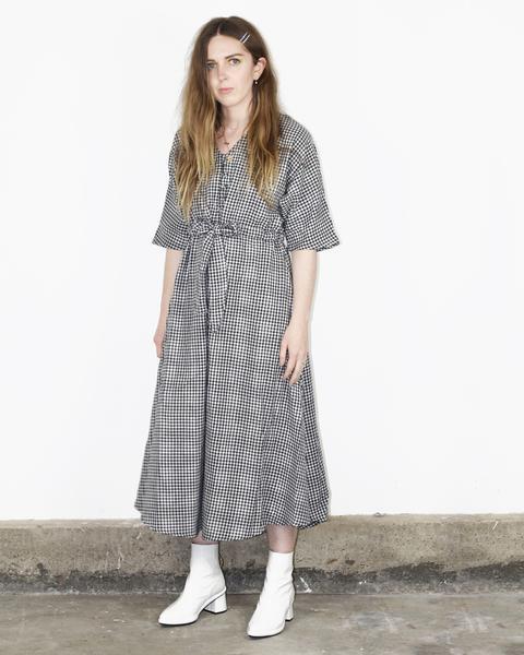 ANOMIE: Market Dress – Black Check Gingham | Wray